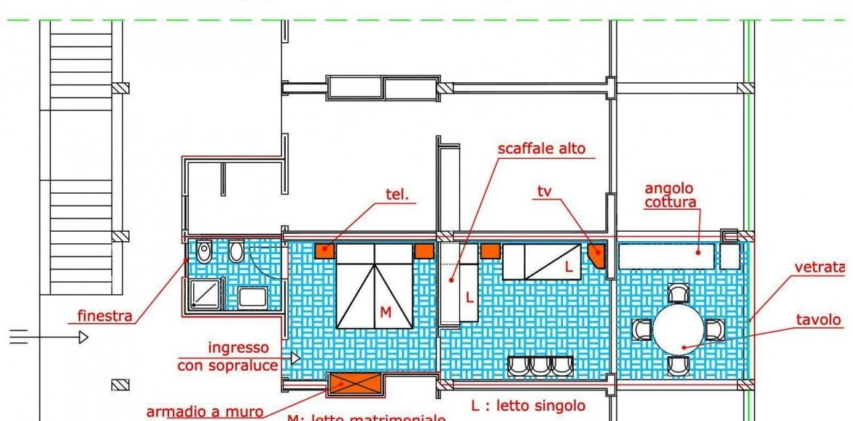 Planimetria appartamento residence for Planimetria appartamento