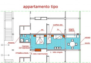 planimetria appartamento residence